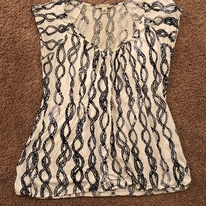 Size small banana republic blue and white shirt